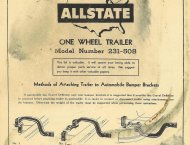 "'58 SEARS ""ALLSTATE""  WOOD TRAILER:17"